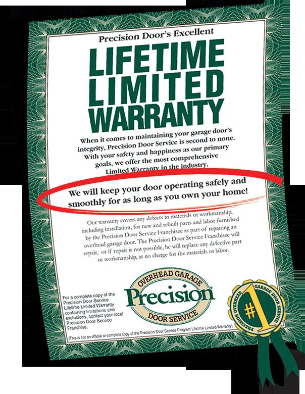 Garage Door Repair Warranty By Precision Garage Door Of Fl